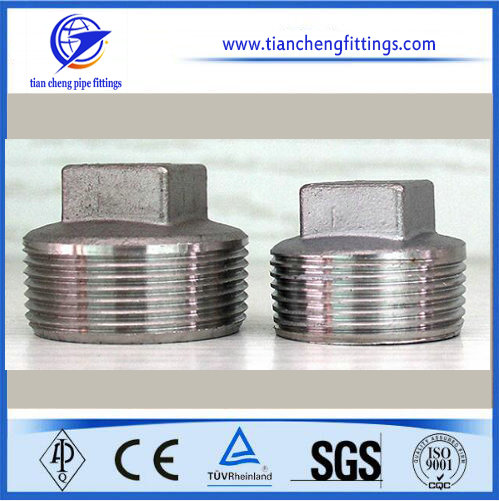 Stainless Steel Pipe Fitting Square Plug